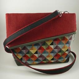Schultertasche von MYLULABAG Foldover Bag Umhängetasche Damen bunt FARBMIX