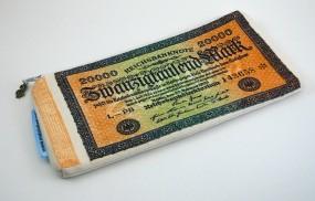 Stiftetasche - Geld wie Heu -
