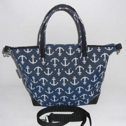 Handtasche Schultertasche Damen maritim Anker blau weiss ANKERTASCHE 1