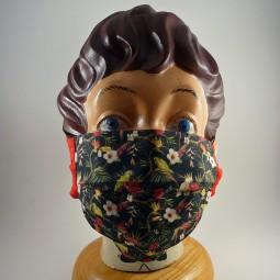 Maske mit Bügel reine 2 lagig Baumwolle waschbar - PAPAGEI -