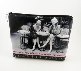 Washbag - woman vintage -