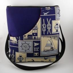 Umhängetasche Ankertasche mit Reissverschluss maritim wandelbar zum Rucksack- AHOI -