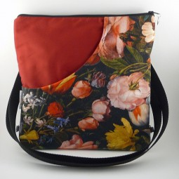 Schultertasche/Rucksack - Flowers -