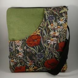 Schultertasche/Rucksack poppy Blumen Flowers - MOHN -