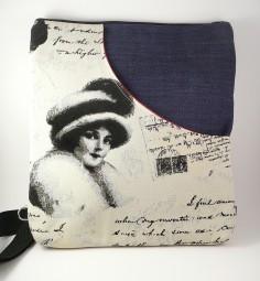 Schultertasche/Rucksack - Vintage lady -