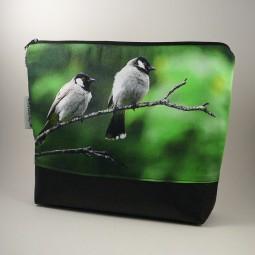 Kulturbeutel - zwei Vögel -